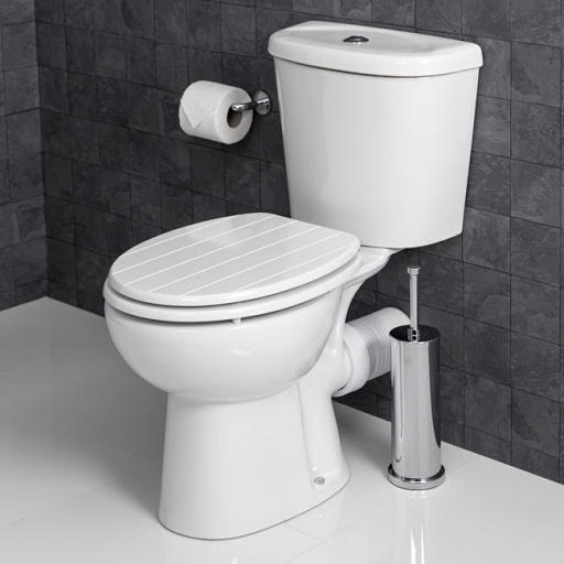 Tongue /& Groove White Toilet Seat Wood Strong Chrome Plated Hinges With Fittings