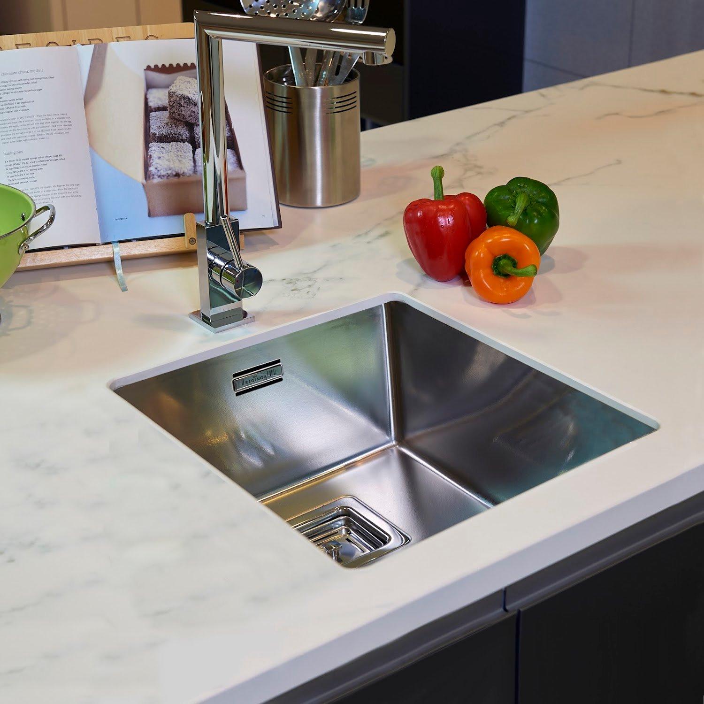 Reginox Texas Kitchen Sink Single Bowl Integrated Stainless Steel Basket Waste Ebay