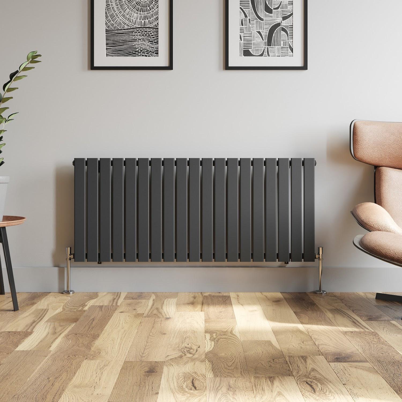 Horizontal Flat Panel Column Designer Radiator Central Heating Anthracite Polish