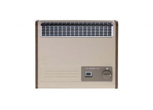 Baxi Brazilia F5S Country Beige/Oak Manual Control Gas Wall Heater 243160