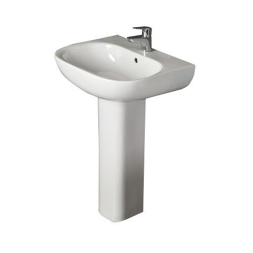 RAK Ceramics Tonique Full Pedestal 550mm 1 Tap Hole Bathroom Sink