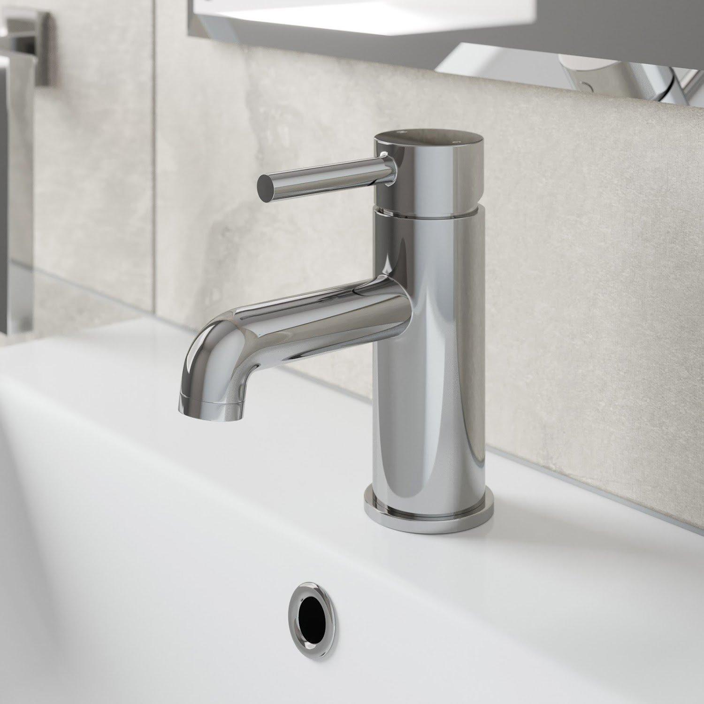 Basin Mixer Standard//High Rise Chrome Finish 5 Star Modern Durable for Bathroom