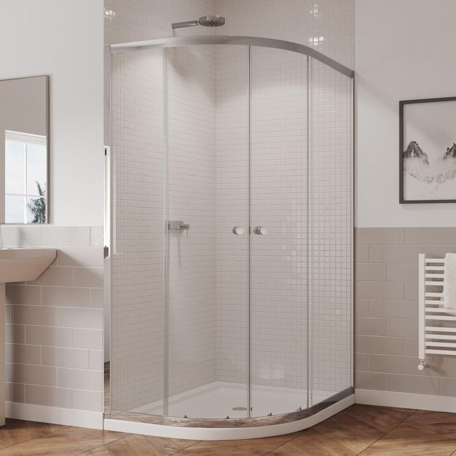 Coram 1000 800 Left Hand Offset Quadrant Shower Enclosure 5mm Glass Chrome