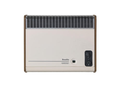 Baxi Brazilia F8ST Beige/Oak Manual Control Wall Heater - 504811