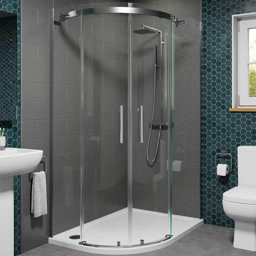 Diamond 1200 X 800 Frameless Quadrant Shower Enclosure Left Hand