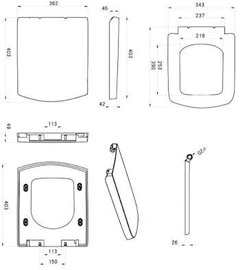 affine-royan-soft-close-fast-release-square-toilet-seat