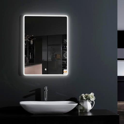 Croydex Hang 'N' Lock Chilcombe LED Bathroom Mirror & Demister Pad 700x500mm Mains Power - MM720200E