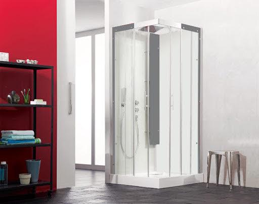Kinedo Horizon Corner Entry Sliding Door Shower Cubicle 800 x 800mm
