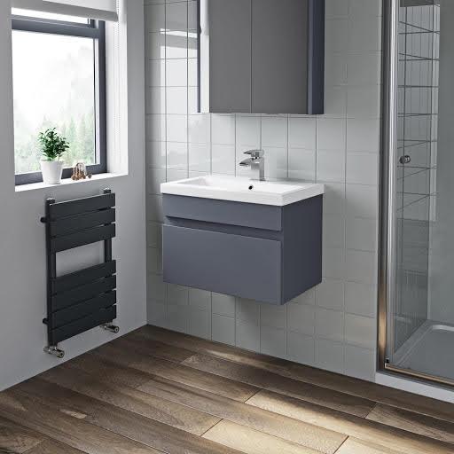 Wall Hung Vanity Units Plumbworld, Mode Meier Grey Wall Hung Vanity Unit And Basin 600mm